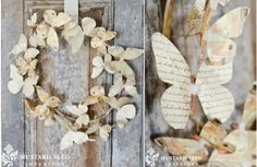 {Vintage Moments} Ephemera Butterfly Wreath ~Enjoy Today's Steal from DECOR STEALS