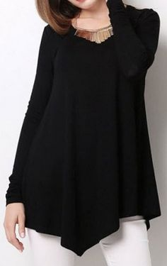 loose fitting scoop neck top