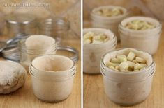 These are individual-sized pies made in little glass jars that can go straight from your freezer to your oven to your mouth. SO cute. You can make these with store-bought crust and canned filling
