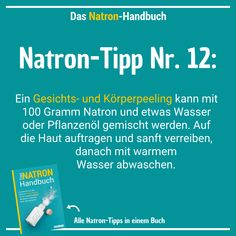 77 Soda Applications: Household, Beauty, Health & More .- 77 Natron-Anwendungen: Haushalt, Schönheit, Gesundheit & mehr Soda-Tip # 12 – Just make face and body scrubs yourself – all you need is soda and water - Beauty Care, Beauty Skin, Beauty Hacks, Diy Beauty, Beauty Ideas, Face Beauty, Homemade Beauty, Beauty Secrets, Beauty Products