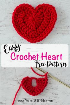 When you need a little love, this free crochet heart pattern is just the thing!