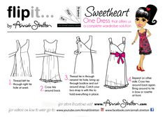 Flipit Wrapping Instructions. How to create a Sweetheart neckline. One Dress, who would Guess! The amazing inimitable Flipit with 10+ ways to wear and a huge range of colours and styles