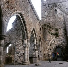 The ruins of St Mary's church, Gowran, Co. Kilkenny. It as built in the late 13th century on the site of an earlier monastery. Ireland