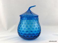 Empoli Azure Blue Bubble Optic Biscuit Jar / by soflacollectors86