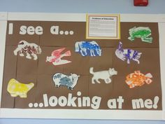 "Preschool Toddler Eric Carle theme: ""Brown Bear, Brown Bear"" board!"