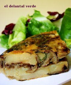 tortilla de setas Go Veggie, Vegan Life, Salmon Burgers, Food To Make, Vegetarian Recipes, Side Dishes, Food Porn, Pork, Veggies