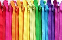 12 Inch BRIGHTS ykk zipper sampler pack 10 pcs cherry red by zipit, $6.00