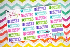 Zone Cleaning Scallop Labels  These super cute scallop zone labels are perfect to organize your house chores! These are measured to fit the