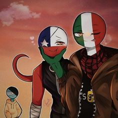 Made by: chaotic.red Mexico Chile, Mundo Comic, Kawaii, Country Art, Hetalia, Weird, Cartoon, Drawings, Cute