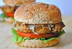Baked Eggplant Burgers {vegan}