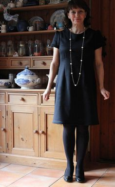 Charlotte's Little Black Megan Dress (sewing pattern from Love at First Stitch)