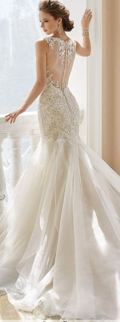 Wonderful Perfect Wedding Dress For The Bride Ideas. Ineffable Perfect Wedding Dress For The Bride Ideas. Wedding Dresses With Straps, Perfect Wedding Dress, Best Wedding Dresses, Bridal Dresses, Wedding Gowns, Trendy Wedding, Lace Trumpet Wedding Dress, Lace Wedding, Trumpet Gown