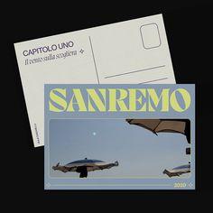 A postcard from Sanremo - Personal project on Behance Web Design, Layout Design, Design Art, Print Design, Building Information Modeling, Graphic Design Posters, Graphic Design Inspiration, Posters Conception Graphique, Real Estate Postcards