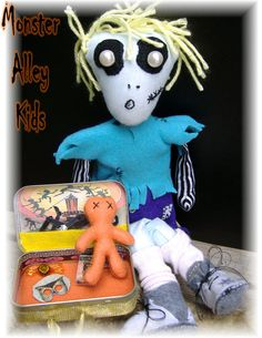 Monster Alley Kids Ghoul Boy With Hoodoo by HouseofLeBarre on Etsy, $42.00