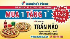Khuyến mãi Domino's Pizza mua 1 tặng 1 trong tháng 11-2014