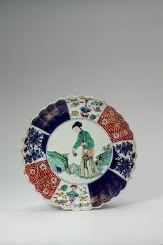 Dame mit Hase, Porzellan, Ära Kangxi (1662-1722), Norddeutsche Privatsammlung