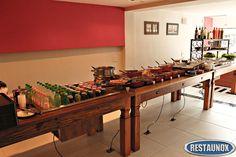 Projetos e Layouts para Mesas Buffet Frias e Quentes, indicadas para Restaurantes Self Service.