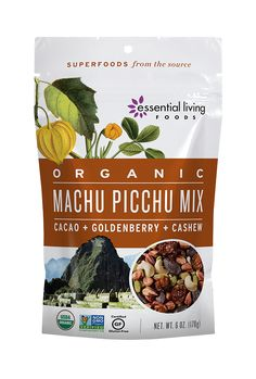 This tantalizing Organic blend of exotic superfoods surprises the palate with a sultry dance of flavors and aromas: dark, earthy crunch meets sweet, juicy citrus in a creamy, smooth and satisfying harmony. With zero additives or sweeteners, we let our premium ingredients speak for themselves: tangy Goldenberries, buttery Jungle Peanuts, succulent Raisins, and energizing Cacao Beans and Maca Chunks.