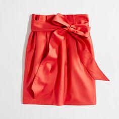 Factory pleated sash skirt