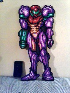 Super Metroid Samus Bead Sprite by DOAruss