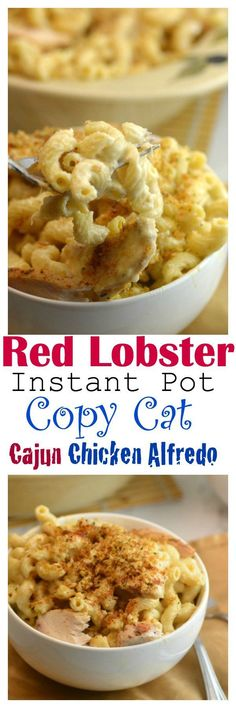 Instant Pot Red Lobster CopyCat Cajun Chicken Alfredo