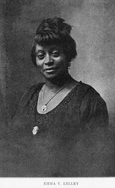 Emma Virginia Kelley 1921. Founder of the Daughters of the Elks (1902), an auxiliary body of The Improved Benevolent and Protective Order of Elks of the World, the largest black fraternal organization in the world.