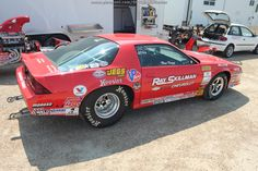 A third gen #Camaro in the pits at the NHRA race in Dallas 2012