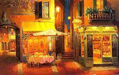 Večer ve Veroně. Evening in Verona.