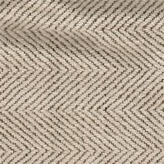 """Creamy ivory with steel grey accents herringbone stripe chenille upholstery fabric has a short and textured nap.  This microfiber upholstery fabric is suitable for any decor. Perfect for pillows, cushions, and furniture. 100% Polyester 56"""" wide Dry clean only.2 1/2 YARD PIECE"""