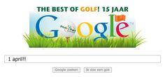 """1 april grap """"Google beloont Pitch&Putt Golf door logo op de zoekmachine aan te passen""""!"""