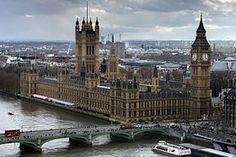 Le palais de Westminster vu depuis le London Eye.