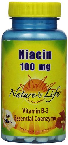 Nature's Life Niacin Tablets, 100 Mg, 250 Count *** For more information, visit image link.