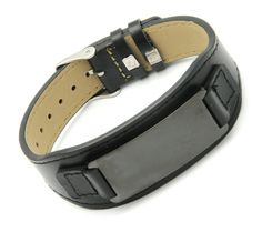 leather bracelet with metal