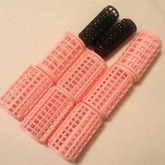 I just discovered this while shopping on Poshmark: Hair curlers!. Check it out! Price: $2 Size: Pink/1.5 inches, Black/1inch, listed by 123eloise