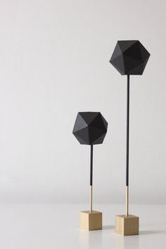 Geometric Paper Sculptures Set of Two by thevintagevoguestory. Love.