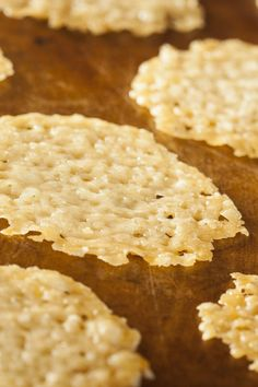 Low Carb Parmesan Crisps!!! They Are Yummy and Make an Awesome Garnish for Soups, Salads, Etc!!