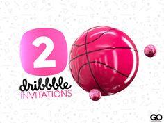 Dribbble® ▸ 2x Dribbble Invites by GO AUDIOVISUAL on Dribbble