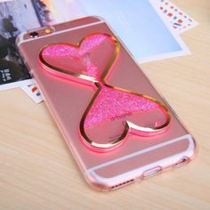Luminous TPU Soft Sparkle Quicksand Glitter Star Flowing Liquid Clear Glow In Dark Case Cover For iPhone 4 4S 5 5S 6 6S 7 7 Plus #Iphone4s