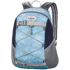 DAKINE Wonder Pack Backpack (€32) ❤ liked on Polyvore featuring bags, backpacks, blue, school & day hiking backpacks, strap backpack, dakine rucksack, mesh backpack, pocket backpack and dakine bag
