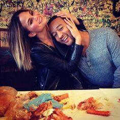 When you can't help but laugh every time you are with each other. Love should be fun. (John Legend and Chrissy Teigen)