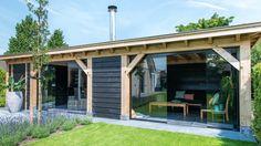 Lovely Windows and oak frame. Pergola, Gazebo, Outdoor Rooms, Outdoor Living, Outdoor Decor, Garden Studio, Garden Buildings, Summer Kitchen, Garden Office