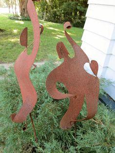 Metal garden sculpture for yard & home décor by ChavenelleStudio, $135.00