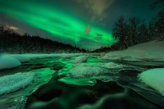 Secret River - Follow me on: https://www.facebook.com/arildheitmannphotography  This is a shot from a few weeks ago. I have not put much effort in shooting the northern lights this year. Guess it has something to do with the insane amounts of pictures shared everywhere...  Anyway, when i shot this i was wearing my waders and crocs. Pretty classy outfit...not really.  When i had positioned myself mid-river, i was paying close attention to the composition. I always position the camera real...