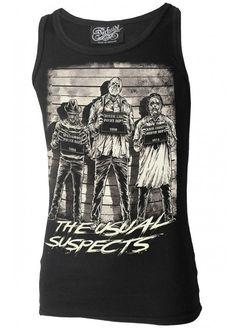 Darkside Clothing habituelle Horror Suspects Maillet sans manches: Amazon.fr: Vêtements et accessoires