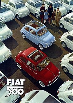 Fiat 500 ad poster - from one of my favorite places, Italia! #monogramsvacation
