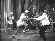 Probably the greatest Lindy hop sequence ever filmed. Whitey's Lindy Hoppers from the film Helzapoppin. See http://www.youtube.com/watch?v=m34eD21QzUw    This is a non commercial, interest site only. Should any copyright owner feel this offends, infringes or interferes in any way with legitimate rights of use, I will remove the item from display.