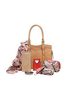 59% OFF Emilie M. Women's Jane Satchel + Essentials Box, Cognac