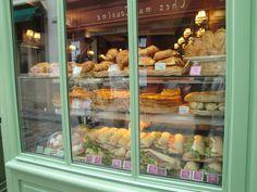 Patisserie shop window near Sacre Coer, Paris