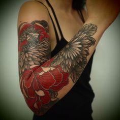Tattoo: red & black