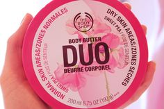 The Body Shop - Body Butter  duo has a rich body butter and a light weight lotion And it smells Delightful!!!!!!!!!!!!!!!!